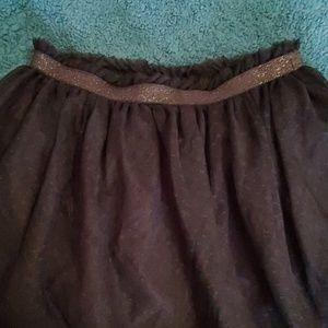 NWT Crazy 8 black tulle skirt